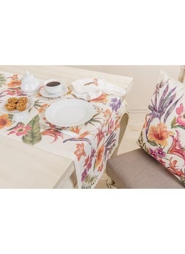 Gül Güler Baskılı Masa Bandı Gardenia 143074040405 Renkli